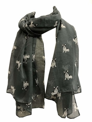 Pamper Yourself Now Grey French Bulldog Dog Long Scarf