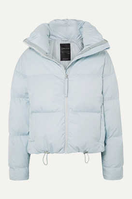 Cordova The Mont Blanc Cropped Quilted Down Ski Jacket - Light blue