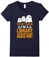 Special Tee Women's You Cant Scare Me Im A Library Assistant T-Shirt Medium