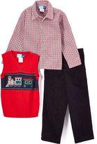 Good Lad Red Train Sweater Vest Set - Toddler & Boys