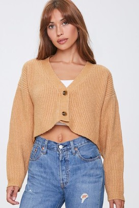 Forever 21 Cropped Cardigan Sweater