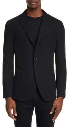 Boglioli Trim Fit Military Knit Wool & Cotton Sport Coat