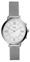 Fossil Women's Hybrid Smart Watch Jacqueline Silver-Tone Bracelet Watch 36mm