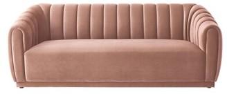 Nicole Miller Hardy Velvet 34.5'' Round Arm Sofa Fabric: Blush