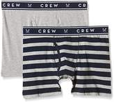 Crew Clothing Men's Pack of 2 Jersey Wide Boxer Shorts
