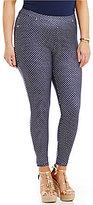 MICHAEL Michael Kors Bungalow Dot Print Stretch Twill Knit Leggings