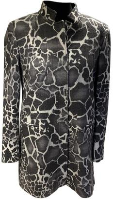 Versace Grey Wool Coats