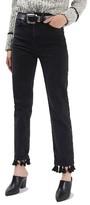 Topshop Women's Tassel Hem Straight Leg Jeans