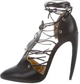 Walter Steiger Leather Lace-Up Pumps