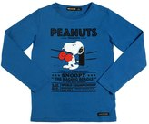 Finger In The Nose Snoopy Printed Cotton Jersey T-Shirt