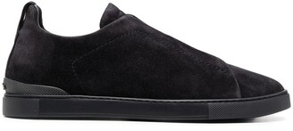 Ermenegildo Zegna Suede Lace-Up Sneakers