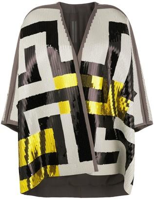 Rick Owens Sequinned Wrap Jacket