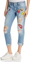 HIDDEN The Last Boyfriend Patch Jeans in Medium Blue