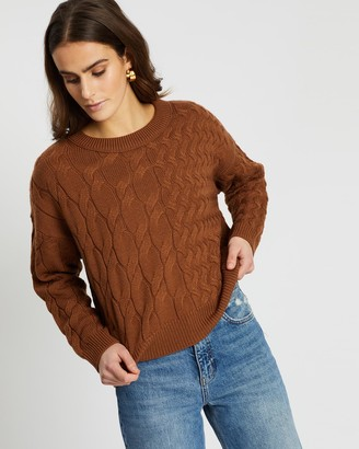SABA Chloe Double Cable Crew Knit