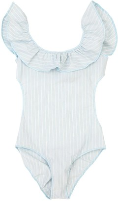 Oseree Striped Lycra One Piece Swimsuit