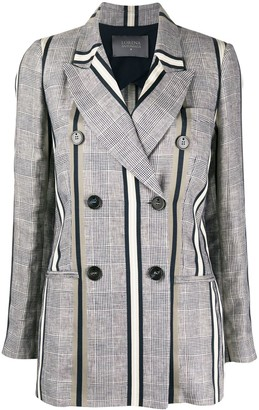 Lorena Antoniazzi Contrast Pattern Double-Breasted Blazer