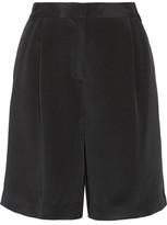 Tibi Pleated Silk Crepe De Chine Shorts
