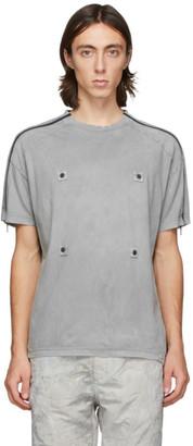Blackmerle Grey Zippered Sleeves T-Shirt