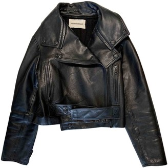 Julien Macdonald Julien Mac Donald Black Leather Jacket for Women