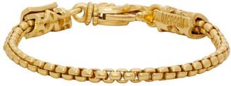 Emanuele Bicocchi Gold Tubular Chain Bracelet