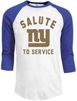 Rong T-shirts Men's New York Giants Salute To Service Legend Performance 3/4 Sleeve Raglan ...