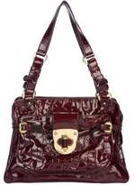 Alexander McQueen Embossed Patent Leather Bag