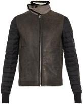 Rick Owens Fur-trimmed shearling jacket