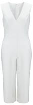 Miss Selfridge Petite Culotte Tie Jumpsuit, Ivory