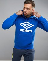 Umbro Large Logo Hoodie In Blue