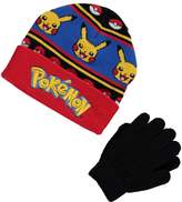 "Pokemon Strategy Lines"" Beanie & Gloves Set"