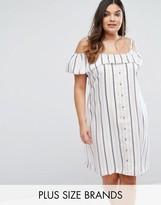 Junarose Striped Bardot Dress