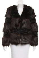 Halston Colorblock Faux Fur Jacket w/ Tags