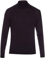 Lanvin Roll-neck fine-knit silk sweater
