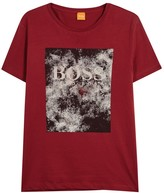 BOSS Theon 1 Red Printed Cotton T-shirt