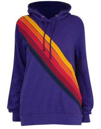 Aviator Nation Cross Stripe Purple - M