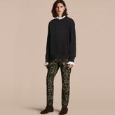Burberry Equestrian Knight Device Cotton Blend Sweatshirt