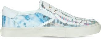 Amiri Tie Dye Leather & Canvas Slip-On Sneaker