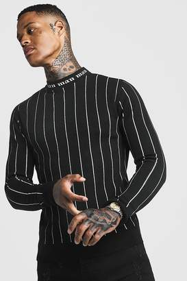boohoo Gothic MAN Muscle Fit Turtle Neck Jumper