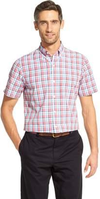 Izod Men's CoolFX Breeze Classic-Fit Plaid Button-Down Shirt