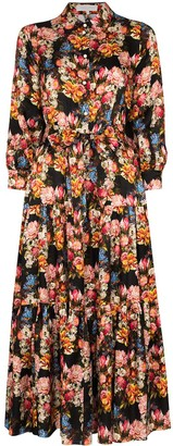 Borgo de Nor Issa floral-print shirtdress