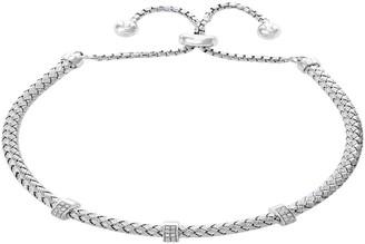Effy 925 Sterling Silver & Diamond Slider Bracelet