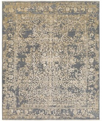 Surya Desiree Hand-Knotted Gray/Beige Area Rug Rug Size: Rectangle 2' x 3'