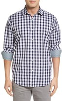 Bugatchi Men's Classic Fit Dot & Gingham Check Sport Shirt