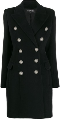 Balmain Embossed Buttons Coat