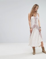 Free People Faithfully Yours Printed Slip Dress