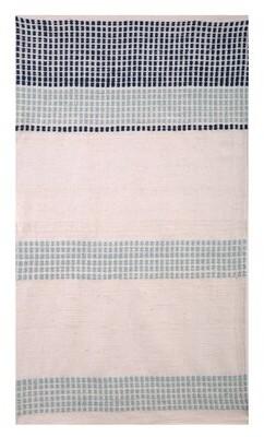 "Imagine Home Chelsea 27"" W Cotton Armchair Fabric: Turquoise/Navy Dot Stripe 100% Cotton"