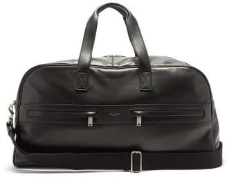 Saint Laurent Foiled-logo Leather Duffle Bag - Black