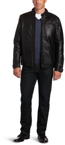 Izod Men's Leather Jacket
