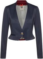 Menashion Short Blazer No. 504 Blue