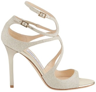 Jimmy Choo Lang 100 Glitter Sandals